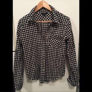 Paige Jeans 100% Cotton Flannel Shirt